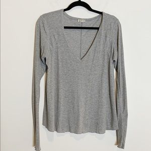 Intimately Free People V Neck Ribbed Thermal 19W34